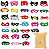 30 Pezzi Maschere Per Bambini Adulti Mascherata Per Feste Mascherine Supereroi Supereroe Maschera Per Feste Per Bambini Supereroe Cosplay Maschere Per Gli Occhi Per Bambini Borse Per Feste Preferito