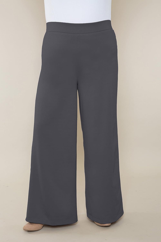 Customizable Pants Wide Leg Ponte Misses & Plus Sizes 2-28 Petite Regular Tall