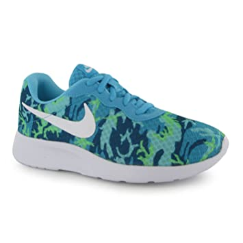 Nike Tanjun Print Training Shoes Womens Blue White Gym Fitness Trainers  Sneakers (UK6) 287d70cc6aa