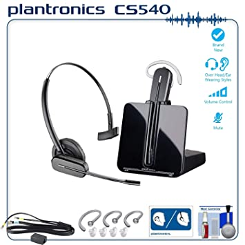d9aceed9d85 Image Unavailable. Image not available for. Color: Plantronics CS540  Professional Wireless Office Headset System Bundle