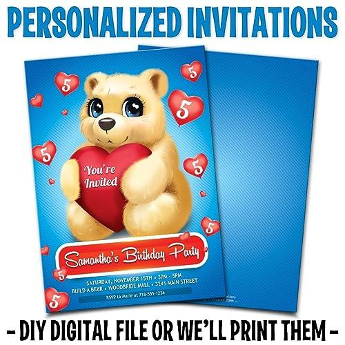 Amazon Custom Personalized Teddy Bear Birthday Invitations