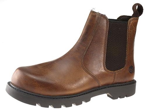 458ed24c99d5 Oaktrak Mens Tan Brown Leather Rocksley pull on chelsea dealer boots ...