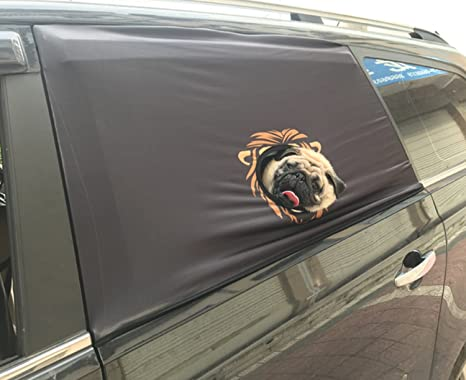 Página de inicio perro Auto ventana sombra sombrilla Protector Pet ventanas Hang Out Auto sombra negro