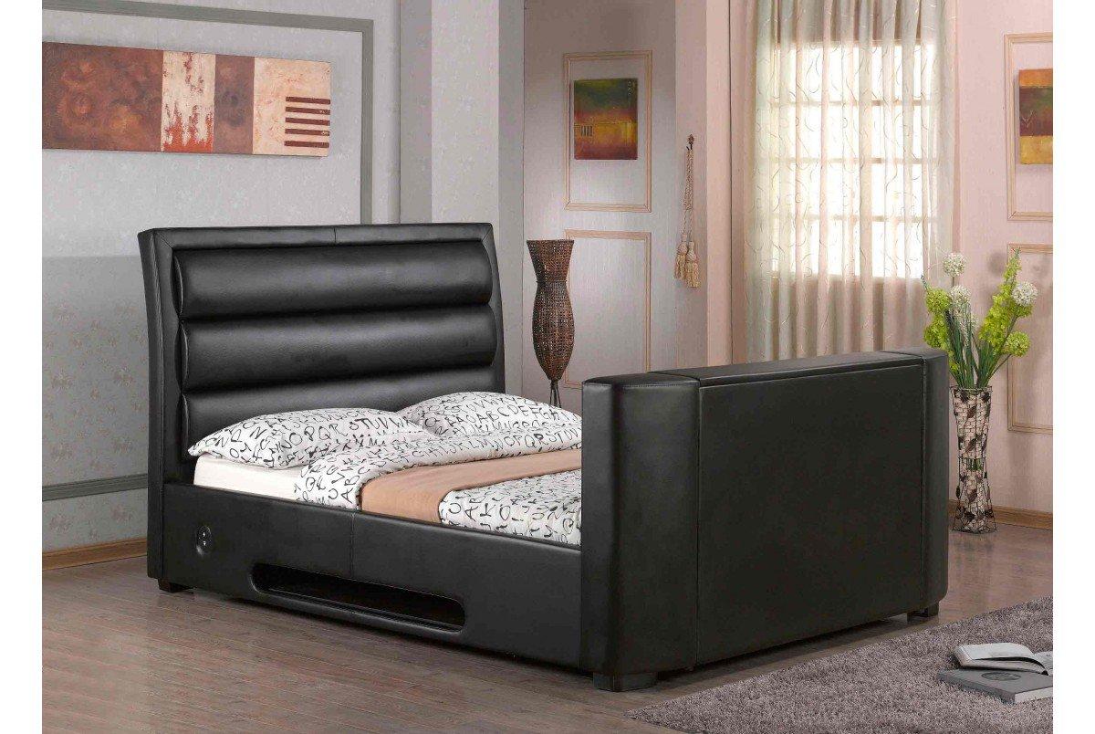 Aurora automatische elektronische Lift TV-Bett, 140 cm, Schwarz ...