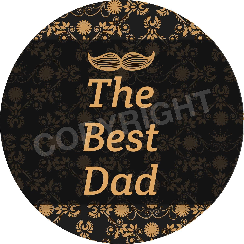 Graphic Flavour Cute Elegant Fathers Day Reward Sticker Labels Parents Children Teachers 6 Stickers @ 9.5cm