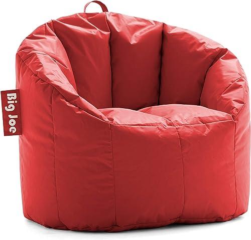 Big Joe Milano Bean Bag, Regular, Smartmax Fire Engine Red