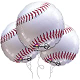 "Baseball 18"" Mylar Balloon 3pk by Anagram"