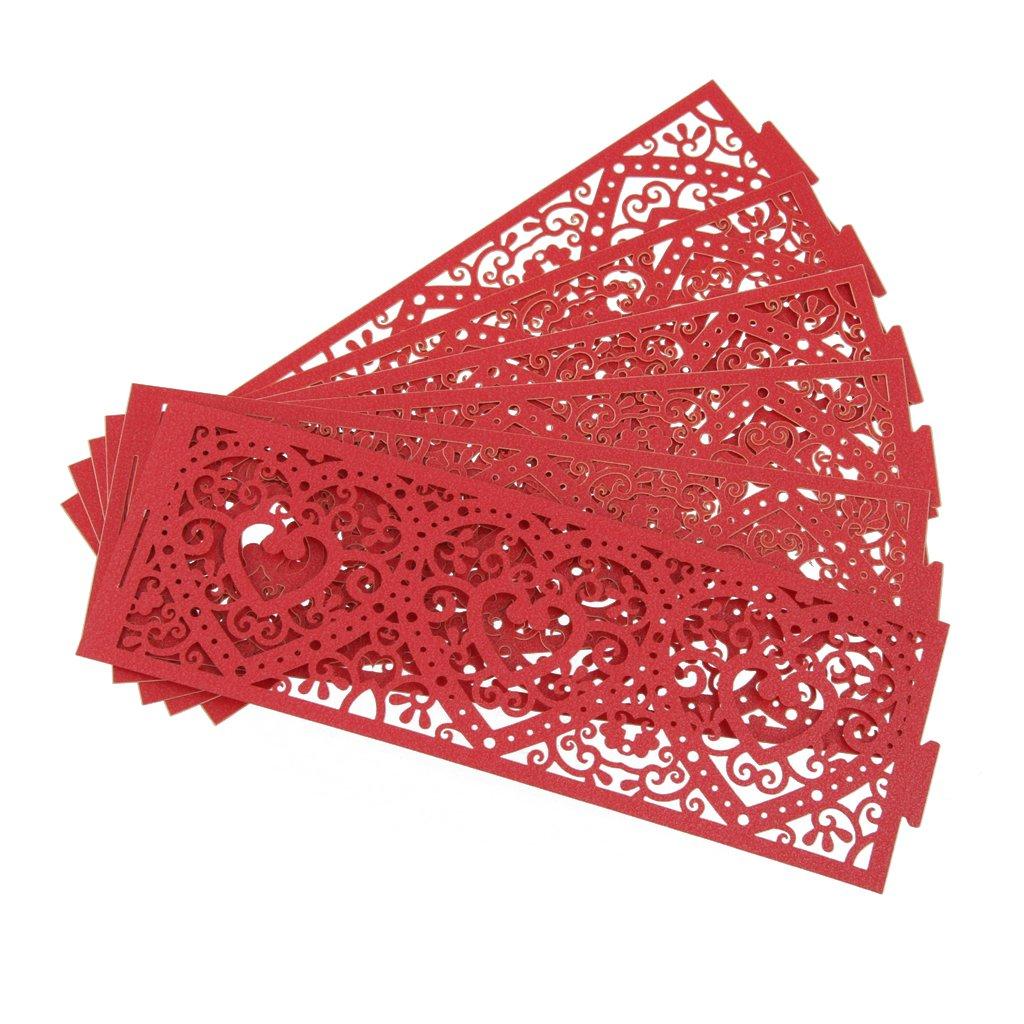 Homyl Porte Support Bougie Abat-jour à Bougie en Papier Accessoire Décor Chambre Mariée - Rouge