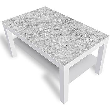 chaussures de séparation 7ce99 cfec0 DekoGlas IKEA Beton Table Basse en Verre avec Plateau en ...