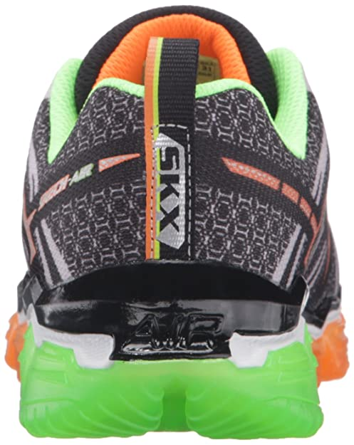Skechers Boys Skech Air Turbo Shock - Zapatillas de deporte Niños, Negro - Noir (Bklm Noir/Lime), 35 EU: Amazon.es: Zapatos y complementos