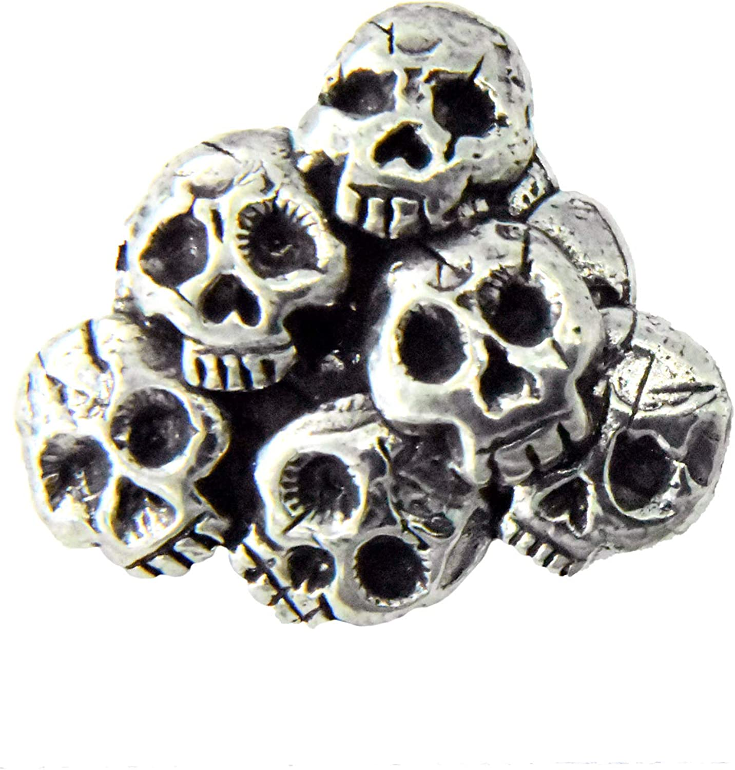 Jewelry G014 Skull Pile Pewter Lapel Pin Brooch