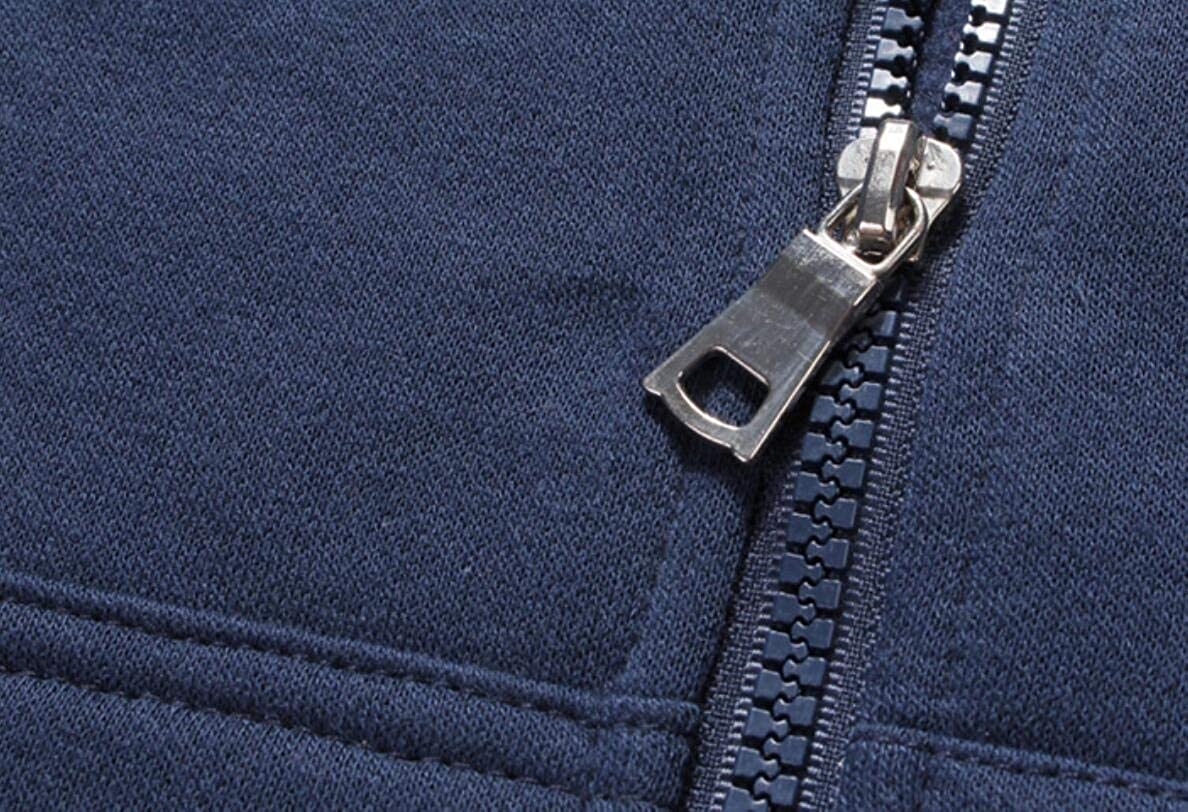 GRMO Men Drawstring Hoodie Pockets Classic Zip-Up Sweatshirt Jacket