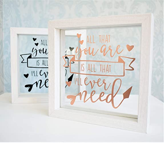 Love Quote Floating Glass Frame. Personalised Colours.Wood Shelf ...