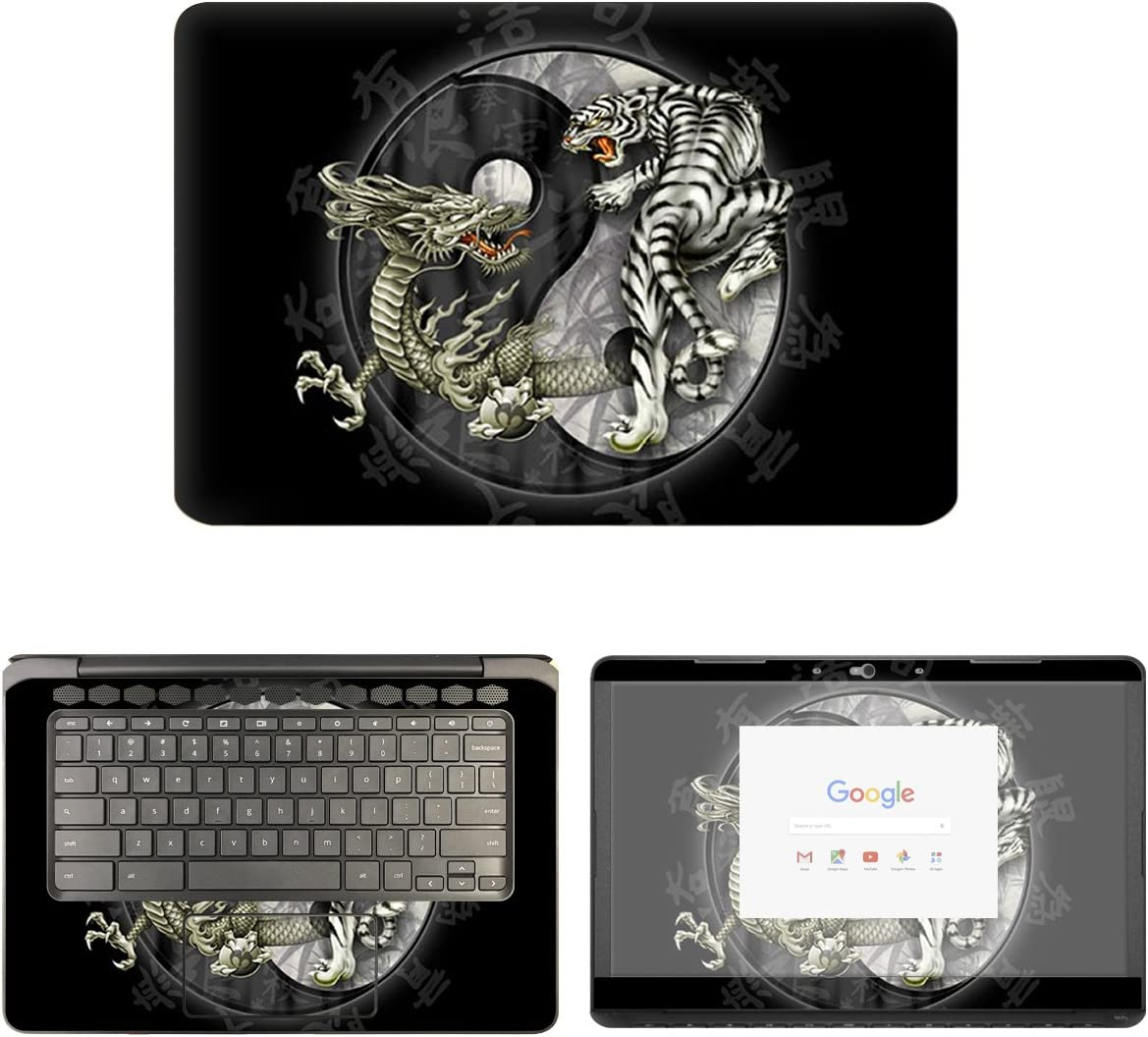 decalrus - Protective Decal Yin Yang Skin Sticker for HP ChromeBook 14-CA061DX (14