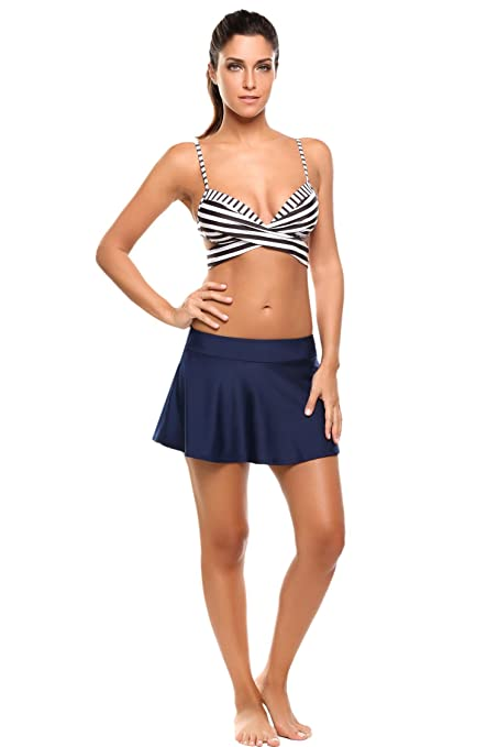 c59e087f4 Skylin Women's Solid Board Shorts Swimming Skirt Bottom With Panty Cover  UPS S-XXL at Amazon Women's Clothing store