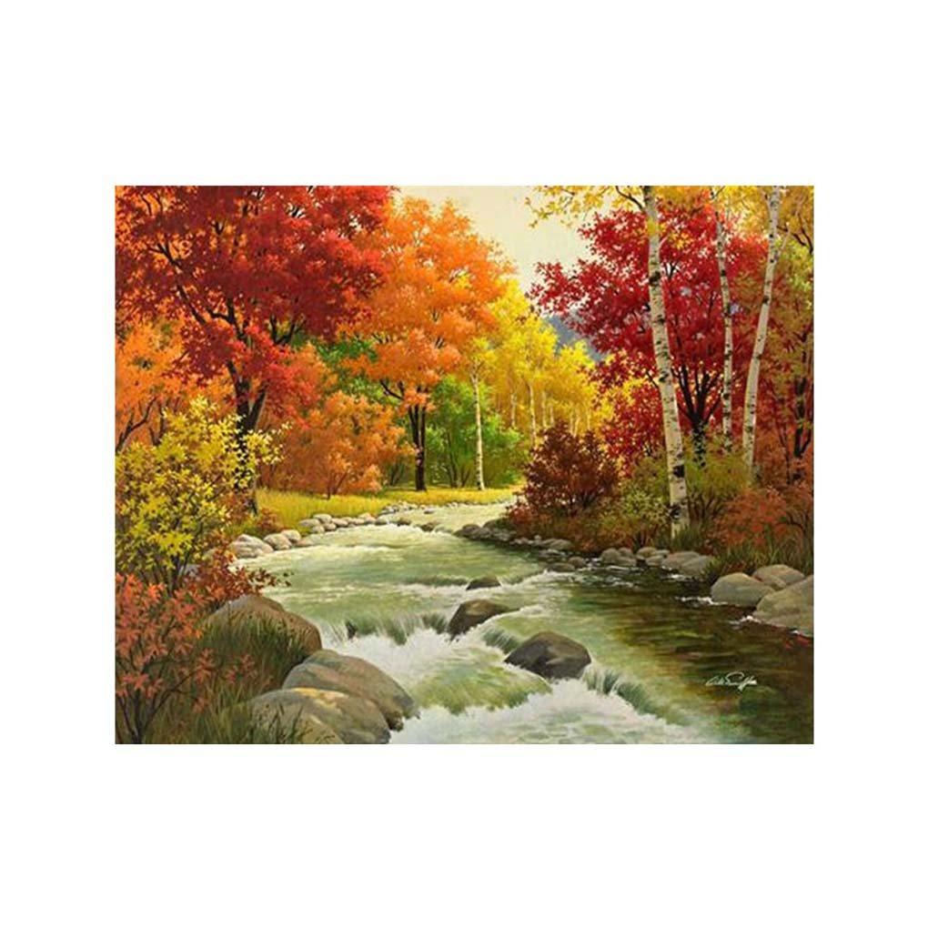 Meisijia Vivid Patterns Autumn Forest fai da te da ricamare quadri stampati 5D completa strass per casa 30x25cm