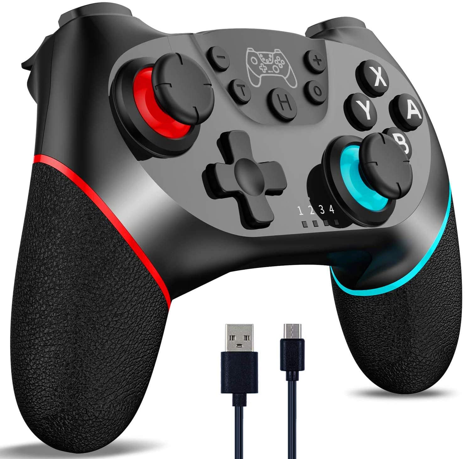 CuleedTec Wireless Switch Controller, Switch Pro Controller Gampad Joypad for Nintendo Switch/Switch Lite, with Gyro and Gravity Sensor, Dual Vibration and Turbo Function (NO NFC) with Charging Cable