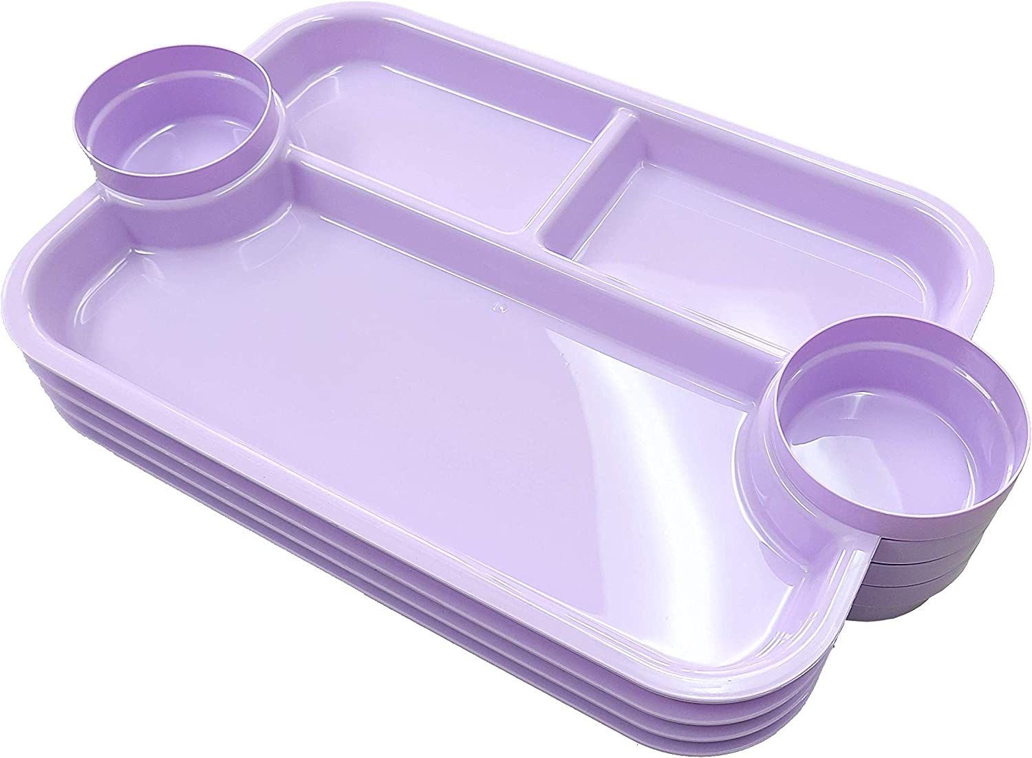 The Party Dipper - Food Tray Serving Tray for kids and adults multi purpose - Innovative Design - Made In USA (Light Lavender)