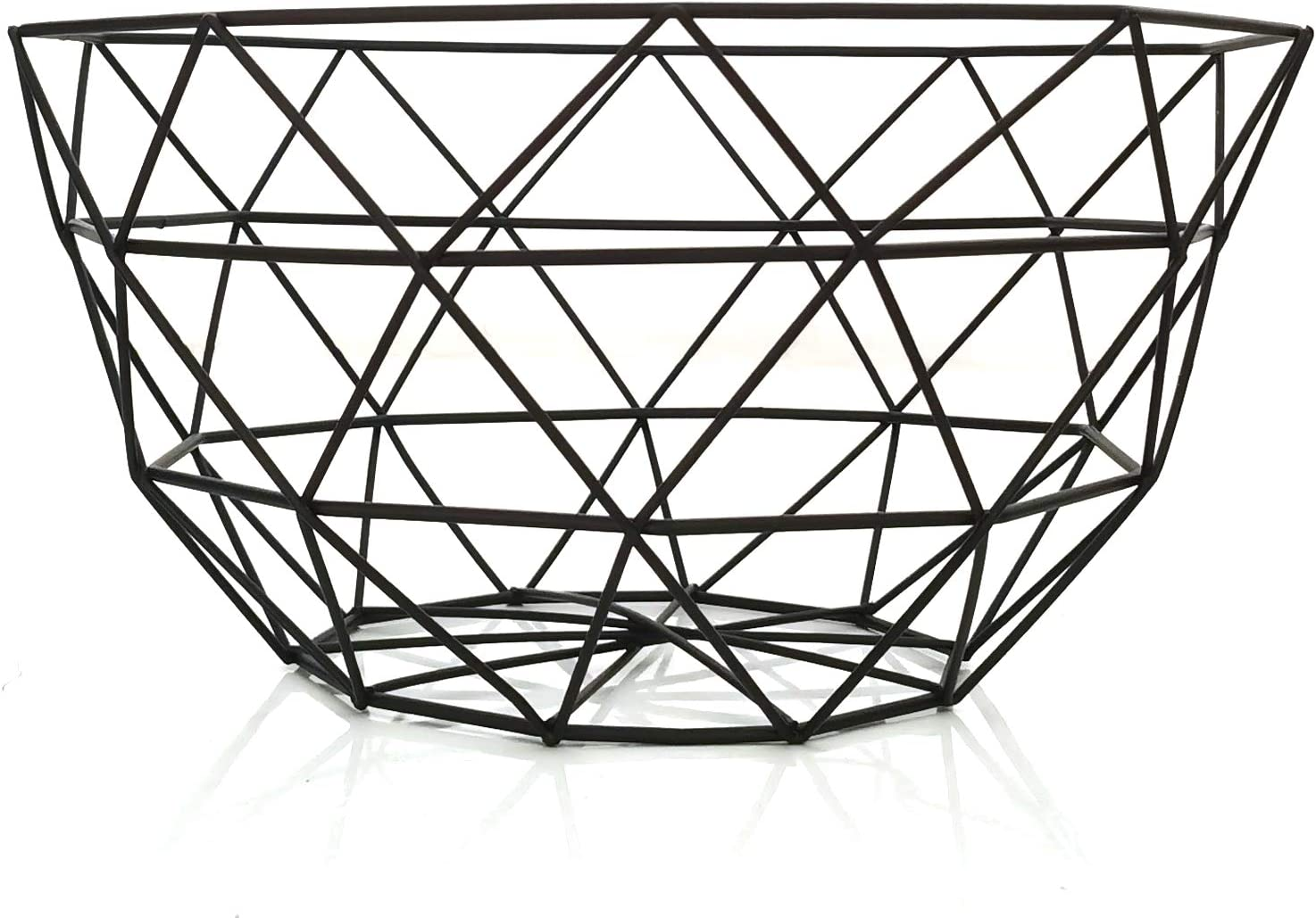 Teetookea Metal Wire Fruit Basket, Creative Mesh Fruit Bowl, Round Metal Storage Holder, Modern Style Container for Kitchen Counter, Table Centerpiece Decorative, Countertop, Home Decor (Large)