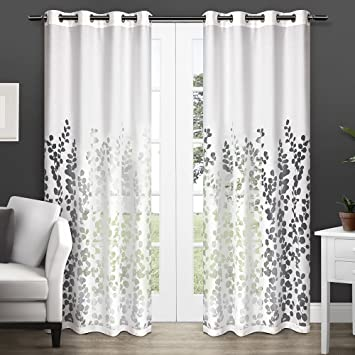 Curtains Ideas 54 curtain panels : Amazon.com: Exclusive Home Wilshire Burnout Sheer Grommet Top ...