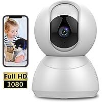 Keyke Cámara de Seguridad Wifi 1080p Cámara de Vigilancia con Rotación de 360°, Visión Nocturna, Audio Bidireccional, Alerta de Movimiento, Servicio de Nube - App iOS / Android
