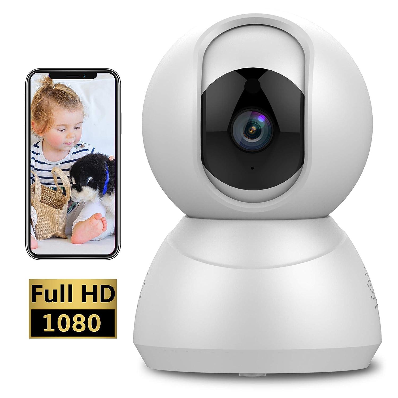 Keyke Camera IP Wifi 1080p Telecamera di Sorveglianza con Rotazione a 360°