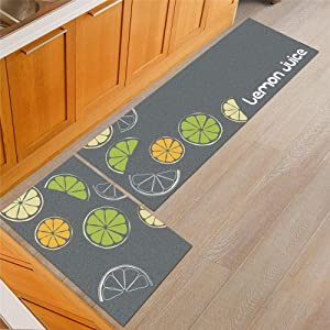 KFEKDT Cartoon Kitchen Rugs Non Slip Absorbent Bathroom Mat Kids Room Bedsider Cat Claw Pattern Rug Modern Living Room Carpet A6 50x80cm and 50x160cm