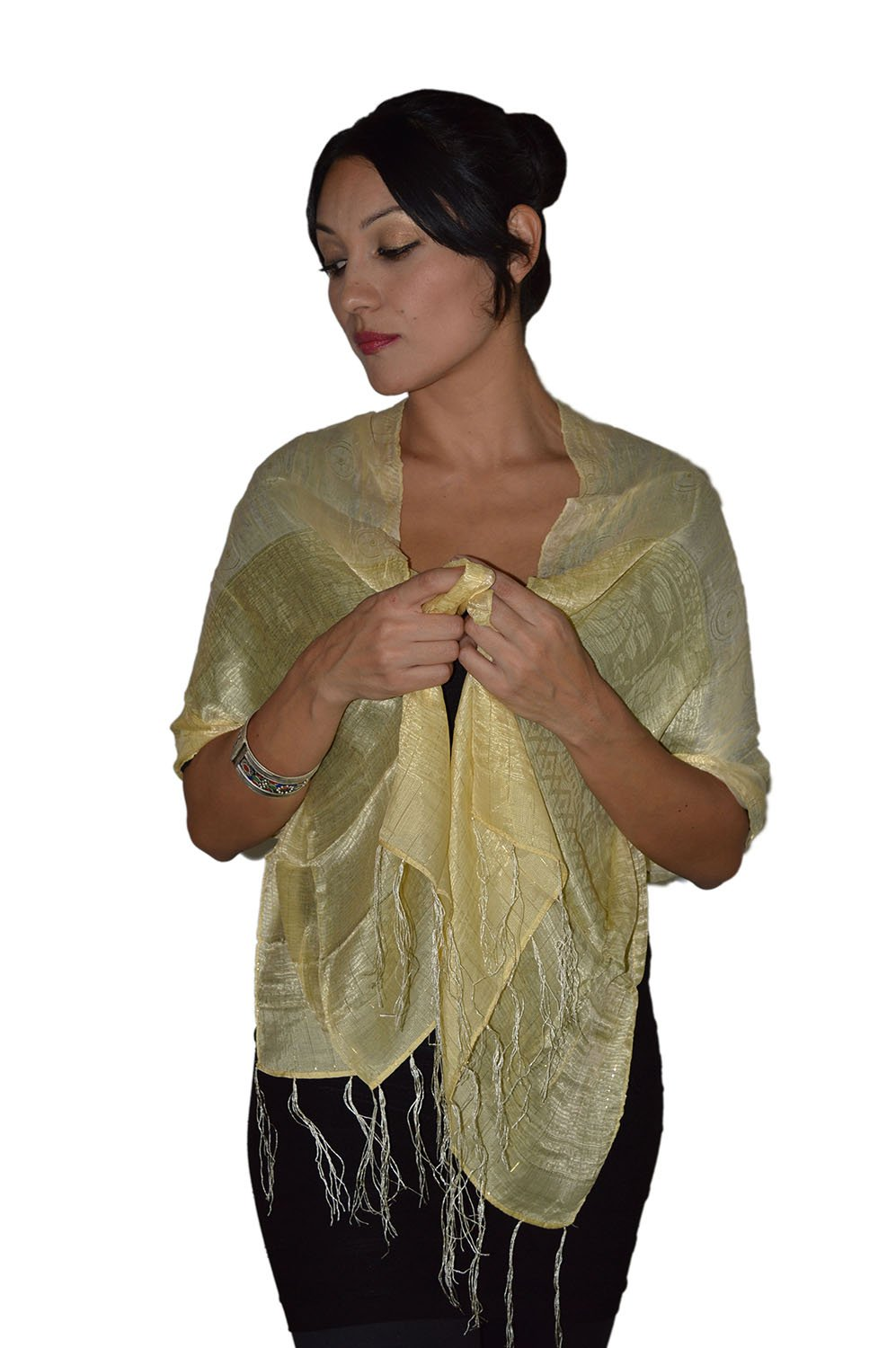 Moroccan Shoulder Shawl Breathable Oblong Head Scarf Silky Soft Exquisite Wrap Navy