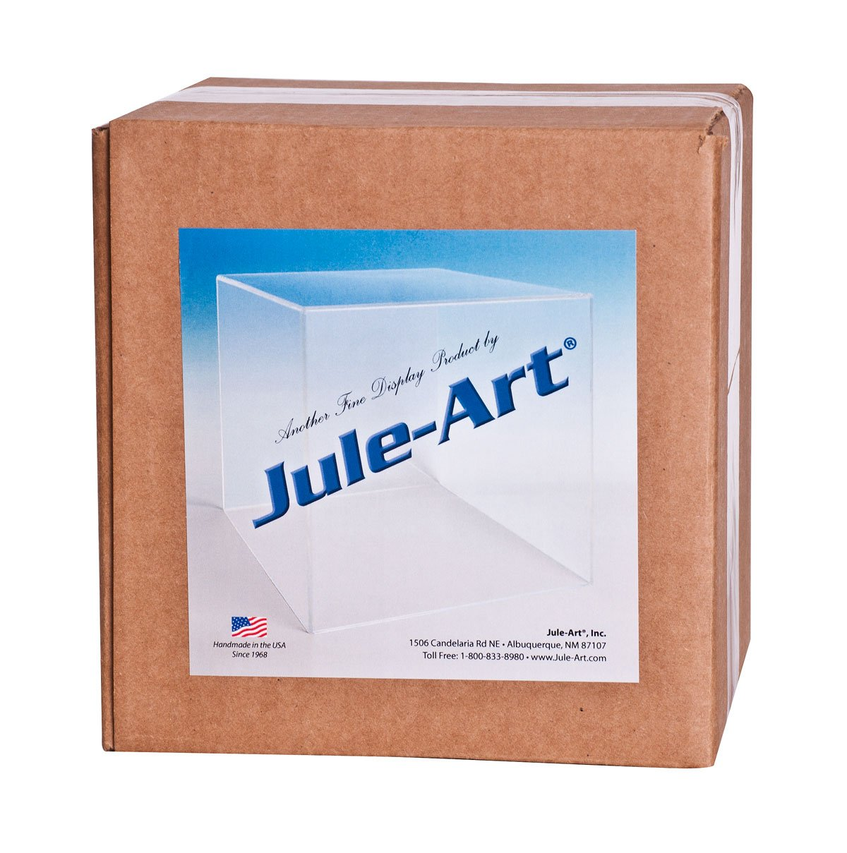 CHOICE ACRYLIC DISPLAYS Acrylic Box Case 5 Sided Display Box Acrylic Cube 9 H x 6 W x 6 D