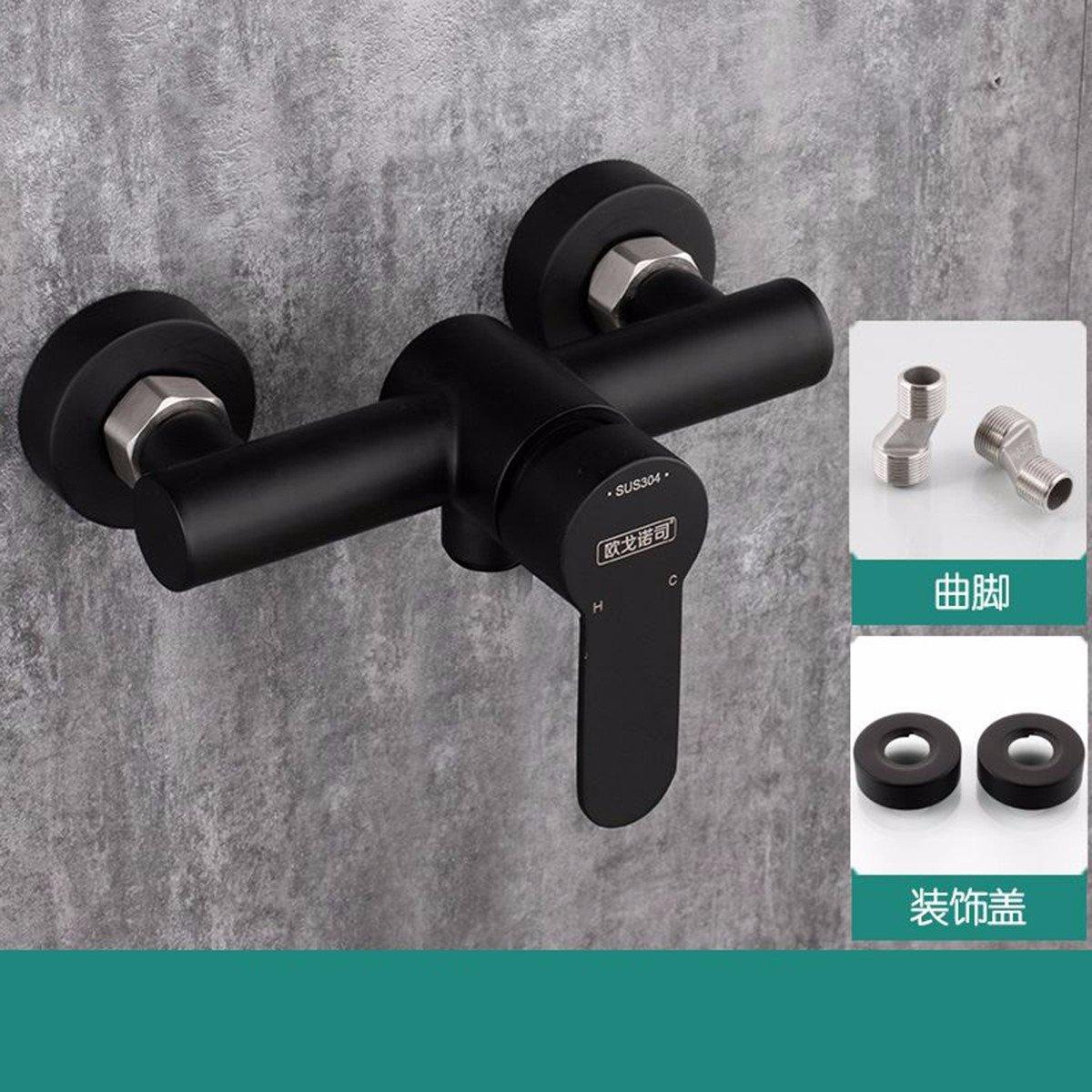 D Shower 304 Stainless Steel Shower Set Black Matte Matte European Hot And Cold Bath Water Mixing Valve,B
