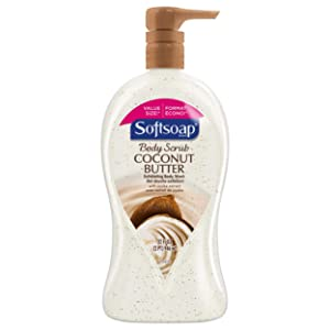 Softsoap Body Wash with Coconut Scrub Pump, 32 Ounce