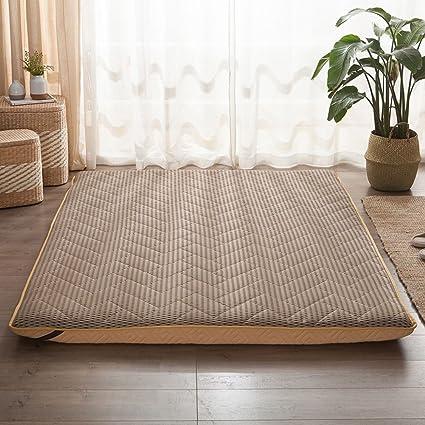 Tatami Floor Mat,Futon Mattress Topper Plenty Thick Traditional Japanese  Futon Japanese Bed B