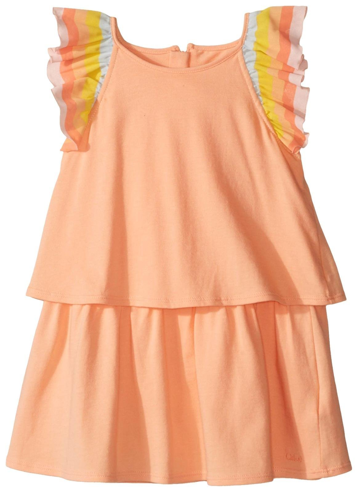 Chloe Baby Girls' Rainbow Ruffles Dress Infant, Sorbet, 18M