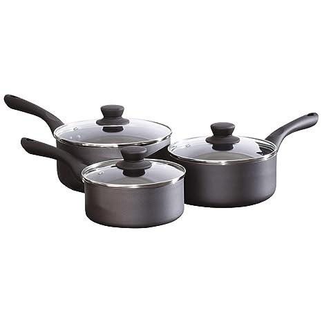 Amazon.com: Pro-Chef CKW1847GE - Juego de 3 cazos de ...