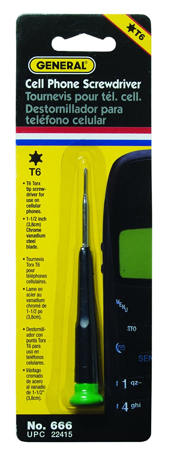 General Tools 666 T6 Cell Phone Screwdriver