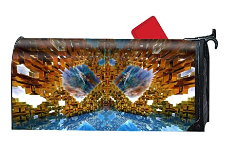 Amazon com: BYUII Magnetic Mailbox Cover - Abstract Fractal