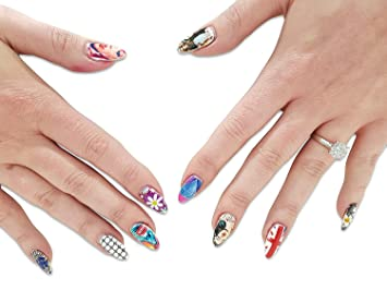 Acrylic Printed Nail Art Salon Quality Glued Fingernail Decal