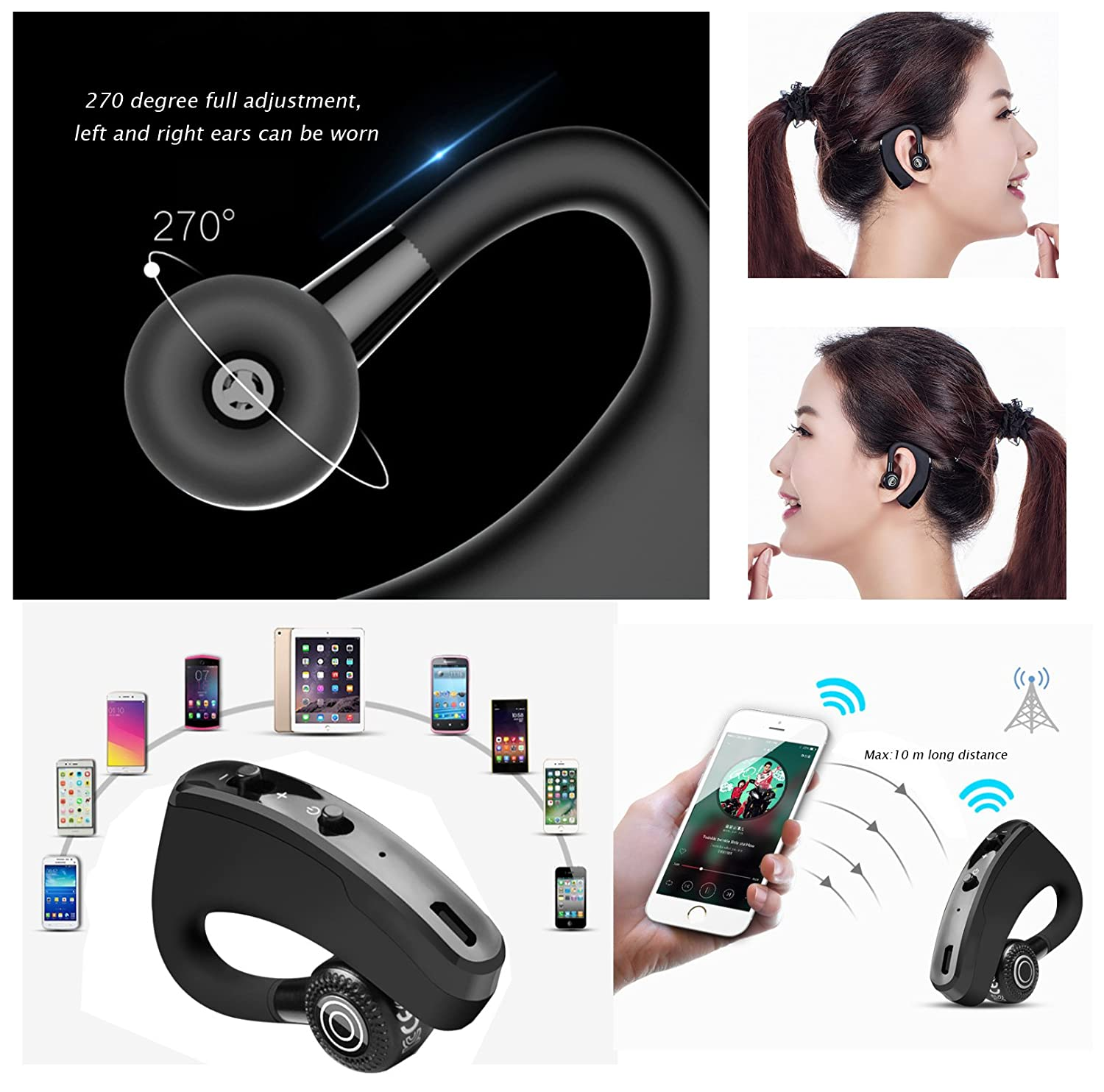 Bluetooth Kopfhörer, SOCINY Wireless Headphones Bluetooth Handsfree In-Ear Headphones Noise Canceling for Huawei Mate 20 Pro / Mate 20 / Mate 20 Lite: ...