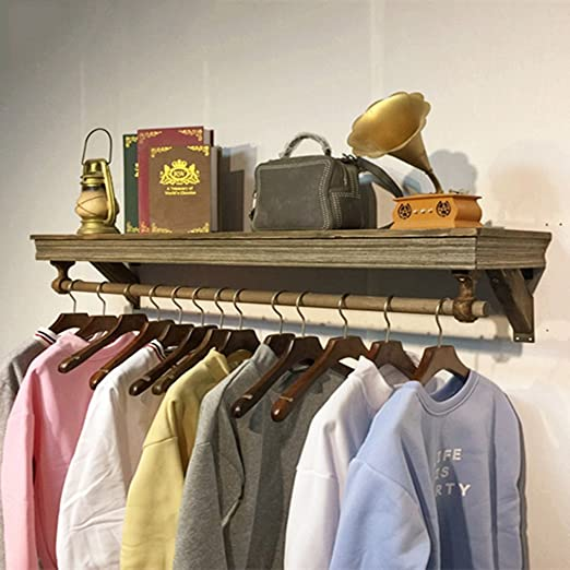 Amazon.com: COAT RACK Wall-Mounted Retro Hook Wall Shelf ...