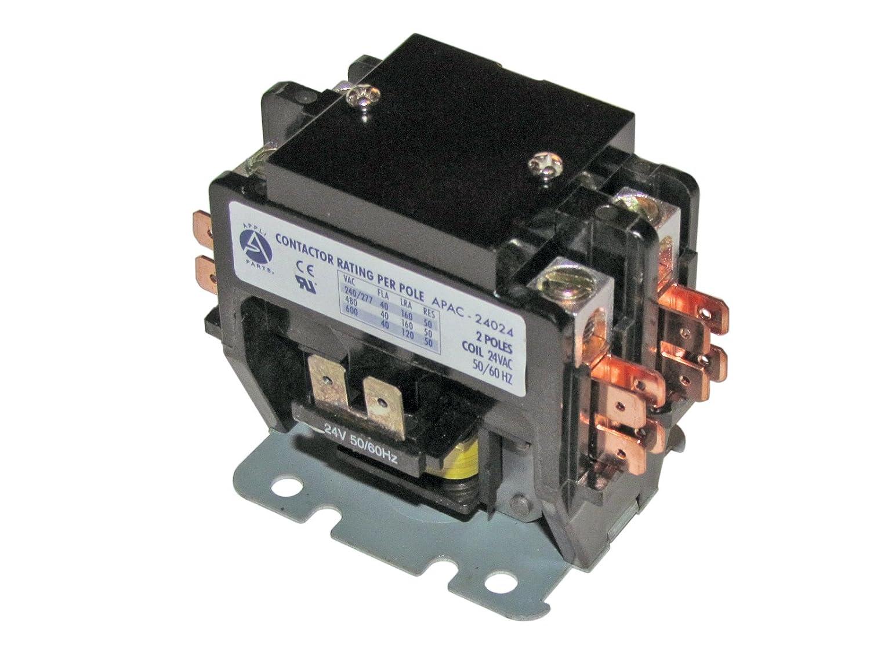 CONTACTOR 2 POLES 40A 24V (2 Pole 40 Amp 24 Volts)