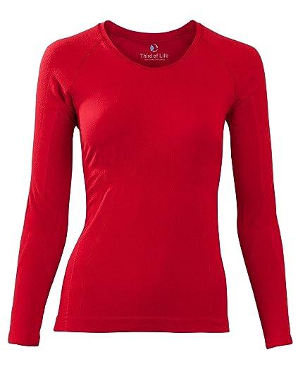 aab25f9d65eb87 Sleepshirt AVIOR Damen Schlaf-Shirt Langarm Oberteil Seamless – ohne  störende Nähte dreimal weicher als Baumwolle Thermoregulierende und  atmungsaktive ...
