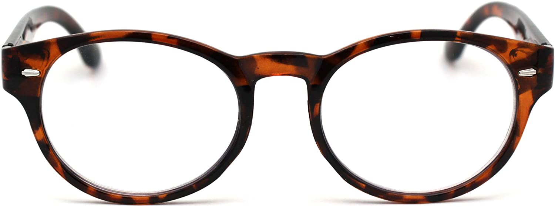 SA106 Oval Horn Rim Multi 3 Focus Progressive Reading Glasses