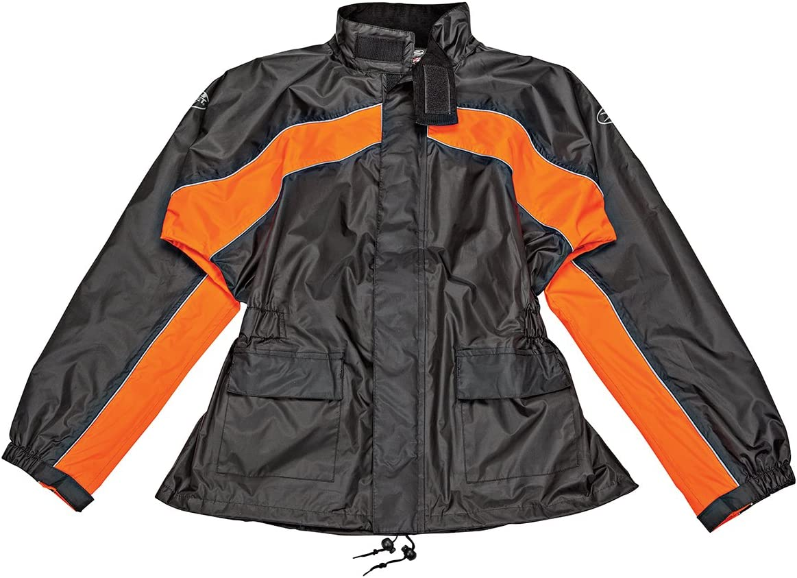5926025516 Joe Rocket 1010-2703 RS-2 Men's Motorcycle Rain Suit (Black/Orange, Medium) 71z5CXz5RxL