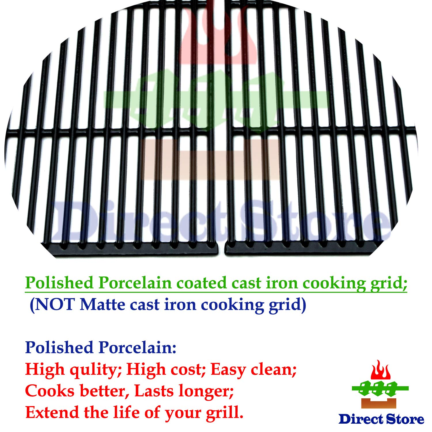 Direct store Parts Kit DG166 Replacement Charbroil Commercial Gas Grill 463268606,463268007 Repair Kit (SS Burner + SS carry-over tubes + Porcelain Steel Heat Plate + Porcelain Cast Iron Cooking Grid) by Direct store (Image #3)
