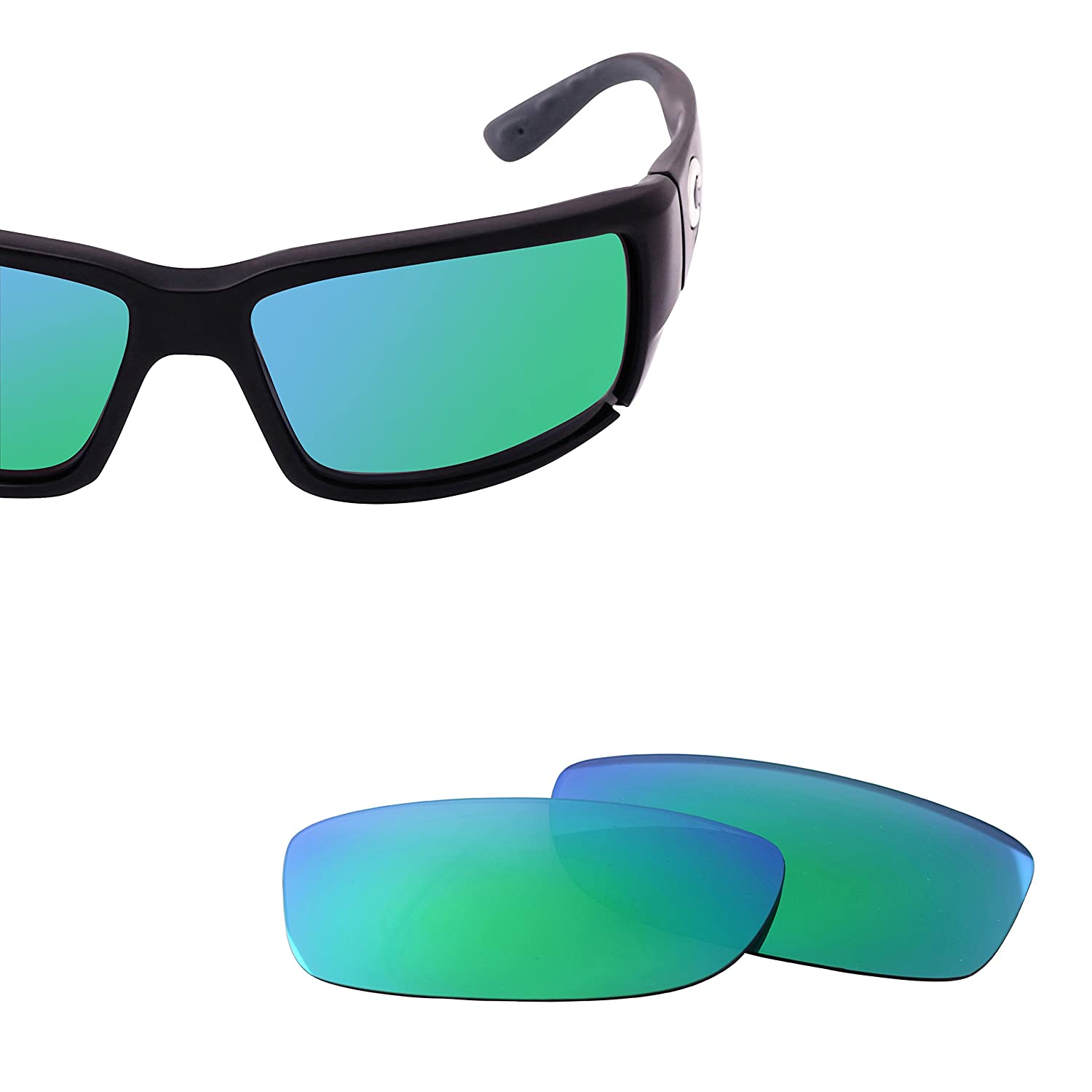 30ffca753a8 Amazon.com  LenzFlip Replacement Lenses Compatible with Costa Del Mar  FANTAIL -Brown w Green  Clothing