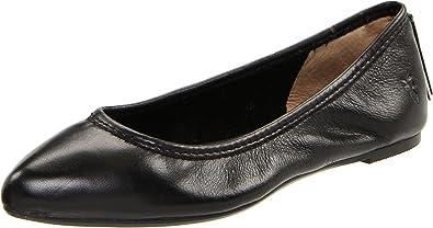 FRYE Women's Regina Ballet Flat, Black Soft Vintage Leather, ...