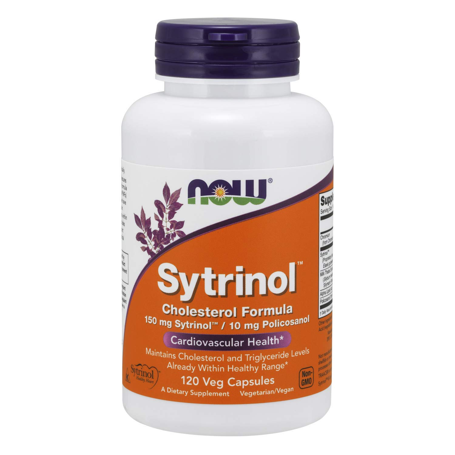NOW Supplements, Sytrinol, Cholesterol Formula, with 150 mg Sytrinol and 10 mg Policosanol, 120 Veg Capsules