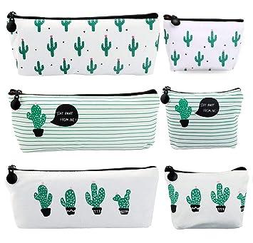 Amazon.com: Cactus - Bolsa de viaje para maquillaje, Tela ...
