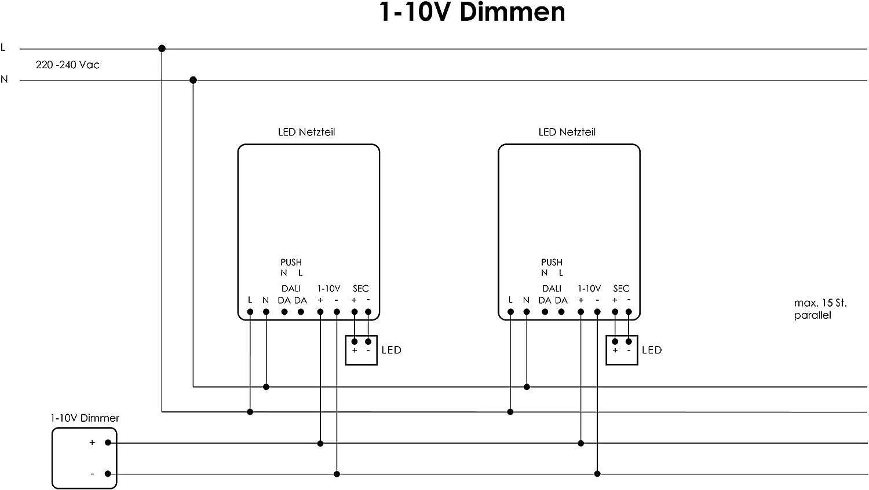700mA Bloc dAlimentation Driver LED HuaTec Transformateur LED 10W 25W 30W 50W 60W 75W Variable avec DALI 1-10V Interrupteur DALI//PUSH PUSH Pri Multi-Courant de Sortie 250mA 25W