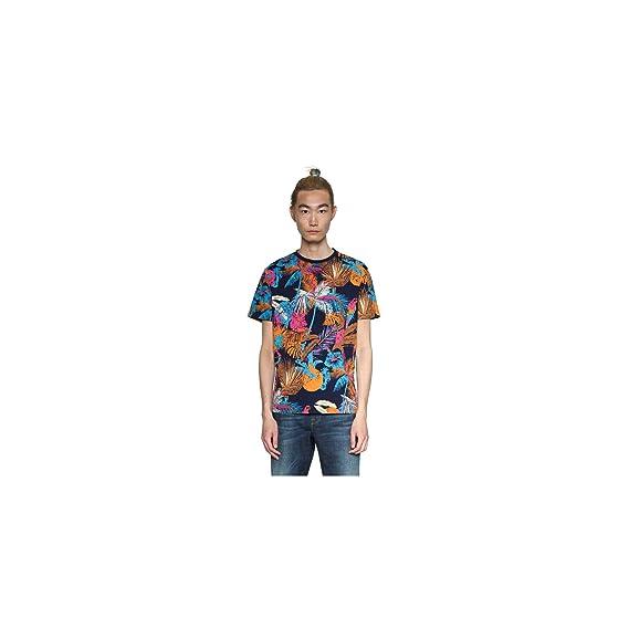 Desigual Camiseta Jose Azul para Hombre S Azul: Amazon.es: Ropa y ...